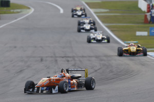 Saturday's FIA Formula 3 European Championship races saw Michael Lewis finish 15th and 20th, respectively.