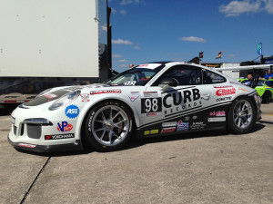 The No. 98 Competition Motorsports/Curb-Agajanian Porsche GT3 Cup car had a successful first event of the 2014 season at Sebring International Raceway under the skilled driving talent of American Michael Lewis.