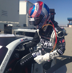 Michael Lewis recently tested the No. 98 Porsche 911 of Competition Motorsports/Curb-Agajanian to prepare for this weekend's race at Mazda Raceway Laguna Seca.