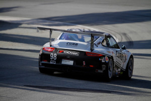 This is the view Michael Lewis hopes his competitors in the IMSA GT3 Cup Challenge USA by Yokohama series will see on race day Saturday, May 24, at Lime Rock Park.