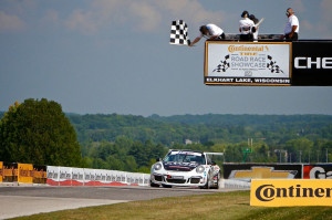 Michael Lewis earned his third win in the IMSA Porsche GT3 Cup Challenge USA by Yokohama on Sunday, August 10, 2014. Photos by Blake Blakely.