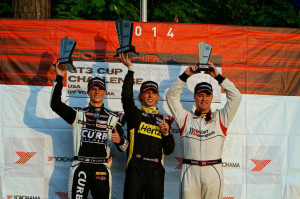 Michael Lewis claimed his fourth podium of the race season by finishing in second on Saturday, August 9, 2014, at Road America.