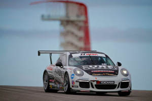 Although Michael Lewis had never raced at Circuit of The Americas before, he earned the pole positions for both of his races on Friday, September 19, and scored one win and a second-place finish.