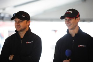 EFFORT Racing teammates Ryan Dalziel (left) and Michael Lewis (right) left Austin, Texas, last weekend smiling as both finished on the podium in their respective classes.