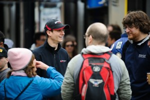 Michael Lewis is seen here catching up with  fans. Those who will be in attendance at the Grand Prix of St. Petersburg can meet Michael on Saturday during the autograph session.