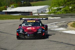 Michael Lewis is seen here in the No. 41 EFFORT Racing/Curb-Agajanian Porsche 911 GT3 R at Barber Motorsports Park after moving up from the GTA to the GT class in the Pirelli World Challenge this week. Photo credit: Pirelli World Challenge.
