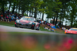 Round 6 of the Pirelli World Challenge proved eventful for Michael Lewis, who started P3, but unfortunately, a cut tire took him out of the race on the last lap.
