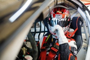 Preparing for qualifying at Canadian Tire Motorsport Park, Michael Lewis gathers his thoughts, and afterward earned a 9th-place starting position for Round 8 of the Pirelli World Challenge.