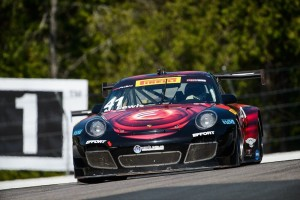 Round 9 of the Pirelli World Challenge at Canadian Motorsport Park proved challenging for Michael Lewis. Although charging through the field, toward the end of the race he encountered traffic and received contact on the car, dropping him back to finish 12th.