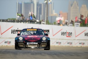 Downtown Detroit, Michigan, provided the backdrop for Michael Lewis' No. 41 EFFORT Racing/Curb-Agajanian Porsche 911 GT3 R during the Detroit Grand Prix on Saturday, May 30.