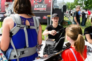 Fans attending the Pirelli World Challenge event at Mid-Ohio on Saturday, August 1, can meet Michael Lewis and other drivers during the autograph session in the infield from 2:15 p.m. - 3:00 p.m. EDT.