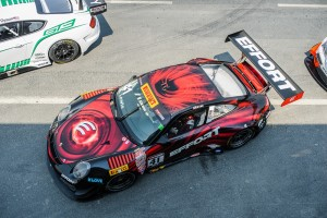 Michael Lewis and the No. 41 EFFORT Racing/Curb-Agajanian Porsche 911 GT3 R participated in Rounds 16 and 17 of the Pirelli World Challenge.