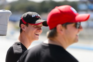 All smiles for Michael Lewis and EFFORT Racing teammate Ryan Dalziel as the teammates finished 8th and 3rd, respectively, in the 2015 Pirelli World Challenge drivers championship.