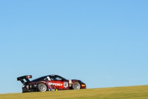 EFFORT Racing debuted the new No. 41 EFFORT Racing/Curb-Agajanian Porsche 911 GT3 R for Michael Lewis at the PWC season opener. Photo: Camden Thrasher 2016.