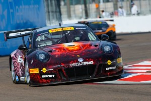Michael Lewis consistently set fast times during the Grand Prix of St. Petersburg, starting with the fastest time of Friday's qualifying session, placing the No. 41 EFFORT Racing/Curb-Agajanian Porsche 911 GT3 R on the pole position for Saturday's first race.