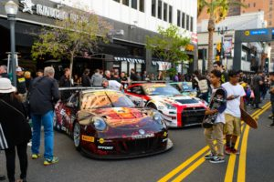 Southern California race fans were able to see Michael's No. 41 Porsche 911 GT3 R up close as it was on display in Long Beach prior to Round 5 of the Pirelli World Challenge.