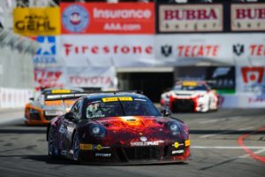 Michael Lewis drove a clean race at his home event and brought the No. 41 EFFORT Racing / Curb-Agajanian Porsche 911 GT3 R to the finish line in 6th position.
