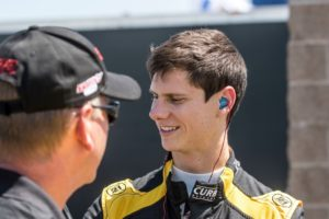 After starting on pole for Round 17 of the Pirelli World Challenge, Michael Lewis just missed a podium finish by crossing the finish line in 4th.