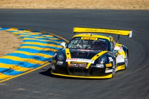 Michael Lewis returned to race competition at Sonoma Raceway, and claimed 5th- and 6th-place finishes. Photo from Porsche Cars North America.
