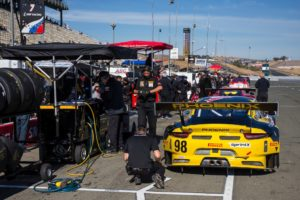 The Calvert Dynamics race team prepared a top-running Porsche for Michael Lewis in the Pirelli World Challenge at Sonoma Raceway, and the team anticipates their final round of 2016 next month at Mazda Raceway Laguna Seca. Photo by Halston Pitman, MotorSport Media.